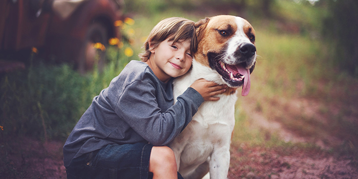 Kid and Dog