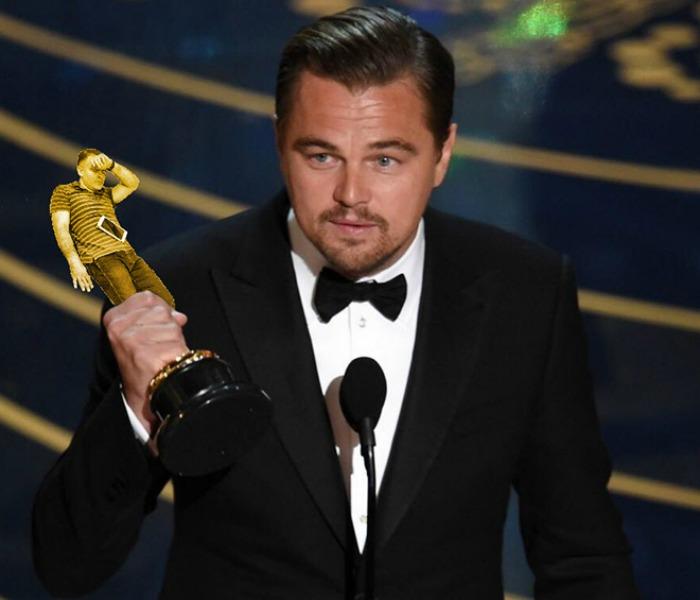 Leonardo Di Caprio Oscar Win