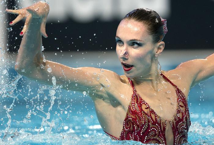 Russian swimmer