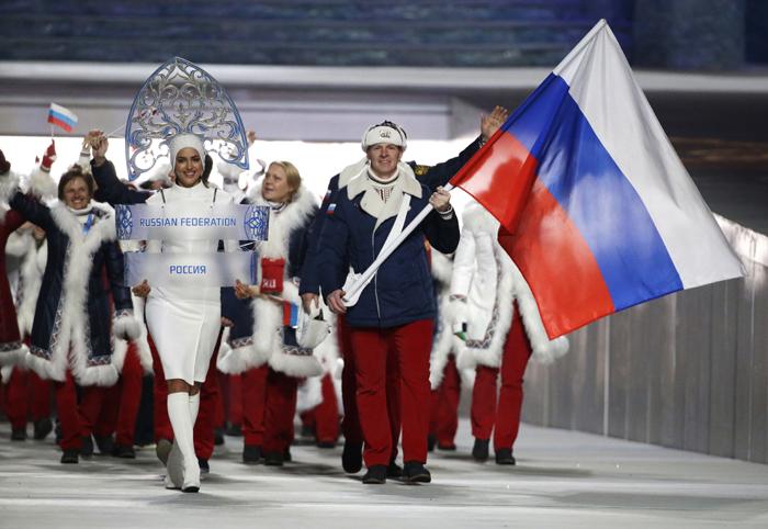 Russian athletes in Sochi