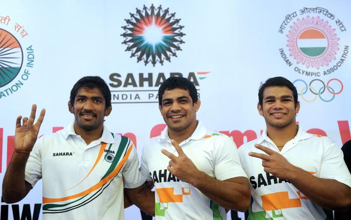 (left to right) Yogeshwar, Sushil and Narsingh Yadav