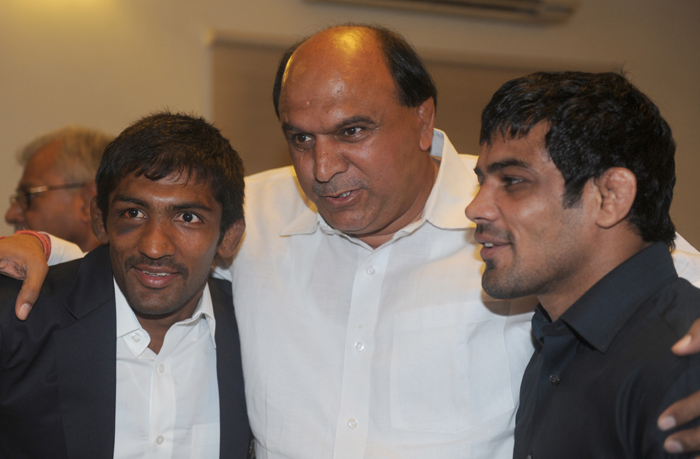 With Satpal Singh