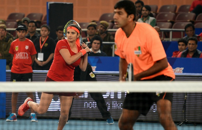 Sania Mirza With Rohan Bopanna