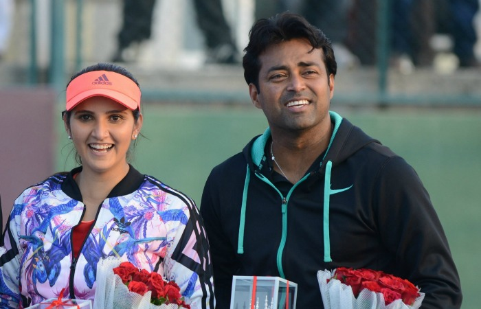 Sania Mirza, with Leander Paes
