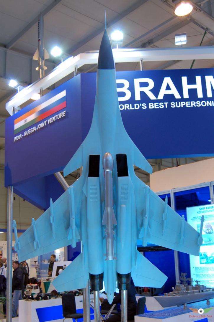 Su-30 model with Brahmos-A at Aero India