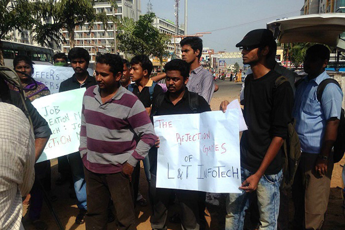 Jobless Engineering Grads Protesting On The Streets As Companies Like Flipkart Delay Placements