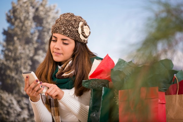girl texting on mobile