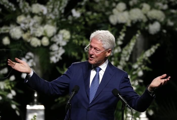 Bill Clinton at Muhammad Ali funeral