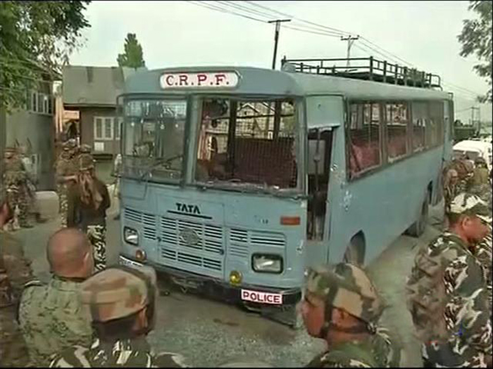 Terrorists Attack Crpf Bus In J&K, 5 Jawans Killed; 2 Militants Shot Dead