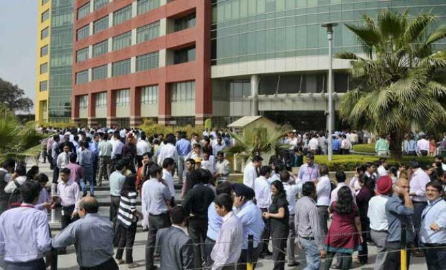 Gurgaon earthquake evac