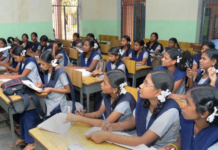 Girls studying in Karnataka