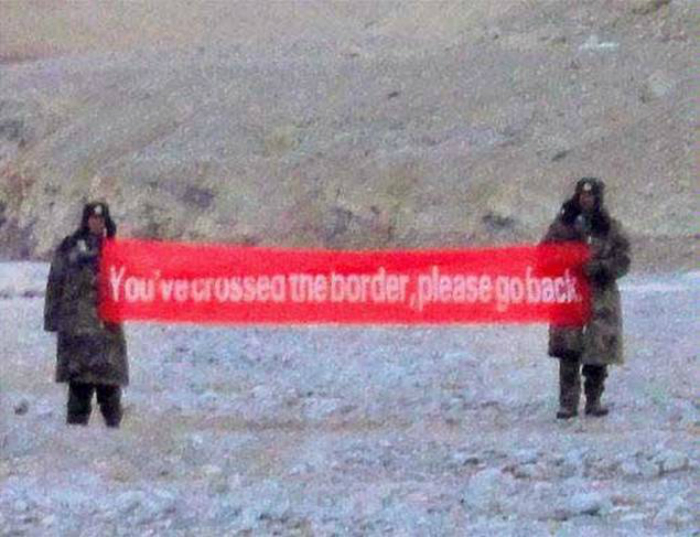 Chinese troops in Ladakh