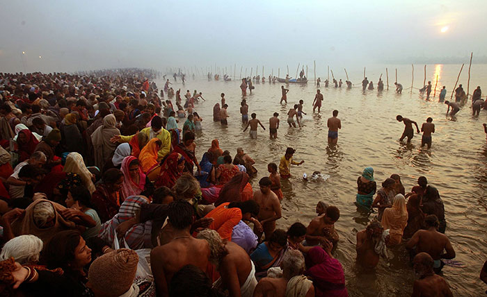 Thousands Of Kashmiri Pandits Celebrate Kumbh Mela For The First Time In 75 Years