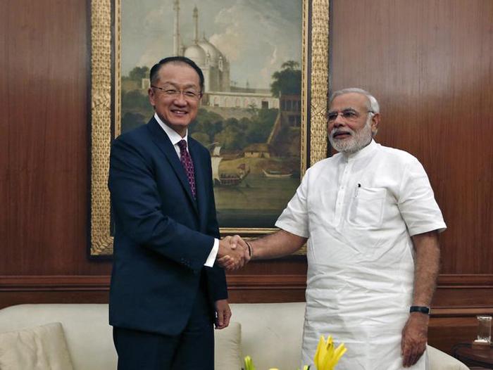 World Bank President Jim Young Kim and Prime Minister Narendra Modi