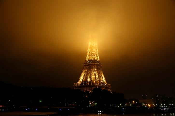 Cloudy Eiffel Tower