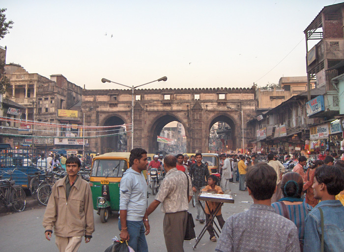 Teen Darwaza area of Old Ahmedabad