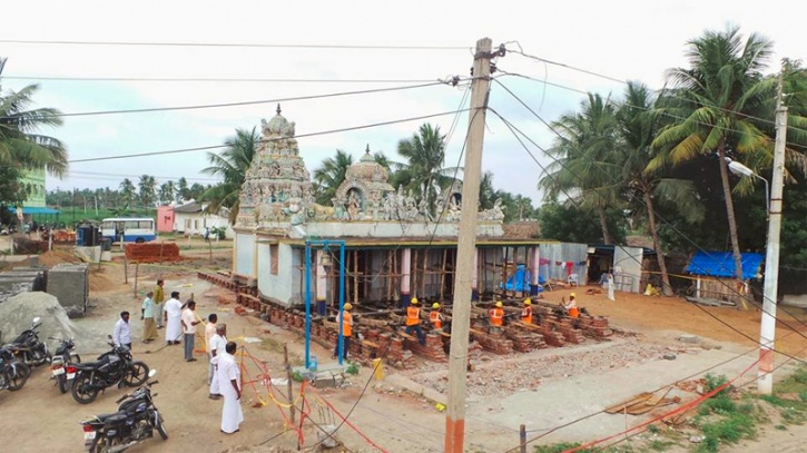Tamil Nadu Temple Rolled Over