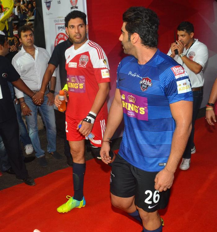 Yuvraj Singh and Arjun Kapoor