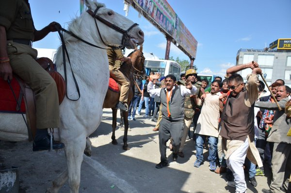 bjp attacking horse