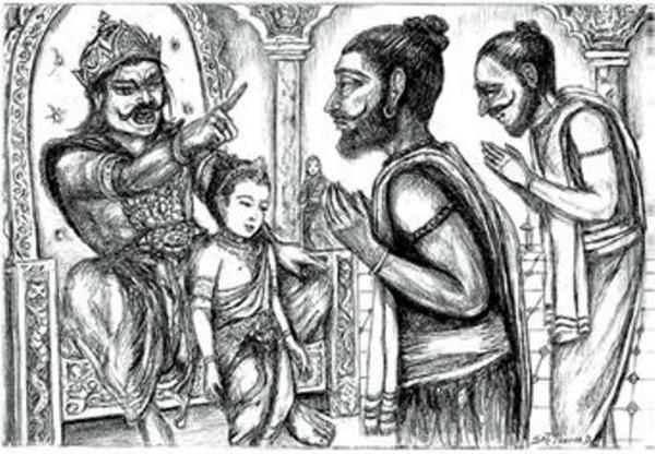 Prahlad and Hiranyakshyap