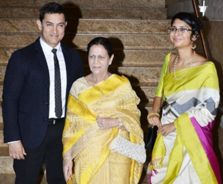 Aamir Khan with his mother