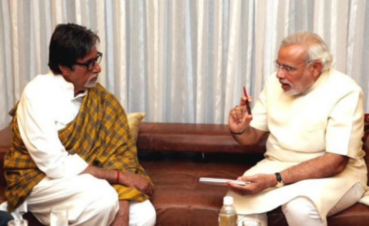 Amitabh Bachchan and Modi