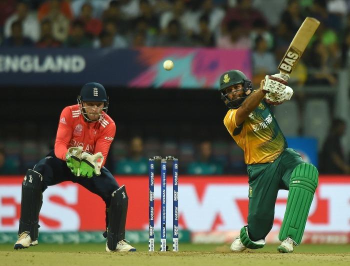 Hashim Amla plays a shot