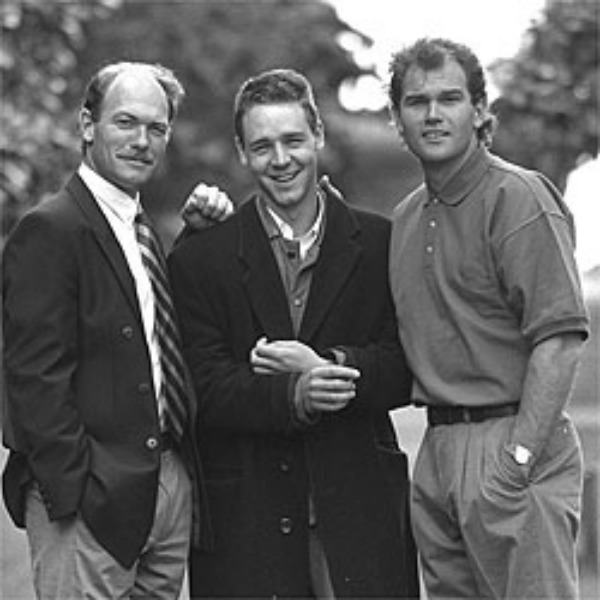 Jeff, Russell and Martin Crowe