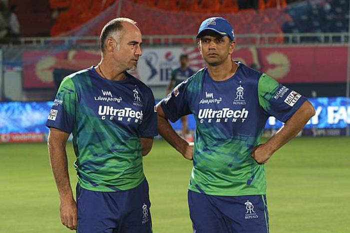 Rahul Dravid with Paddy Upton
