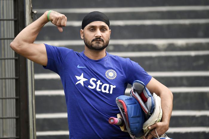 Harbhajan Singh poses