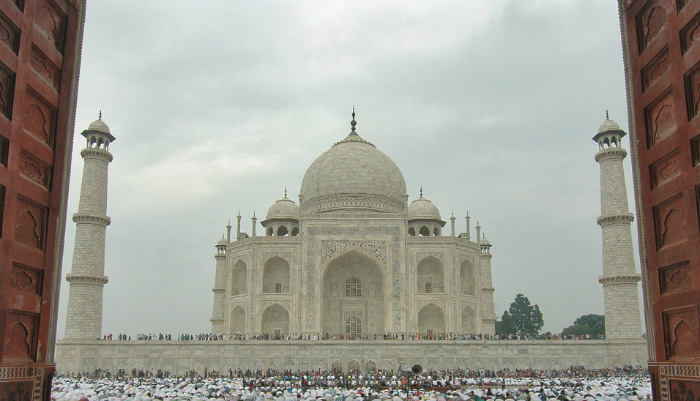 Taj Mahal is not symmetric