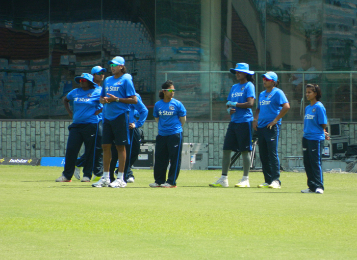 India players fielding practice