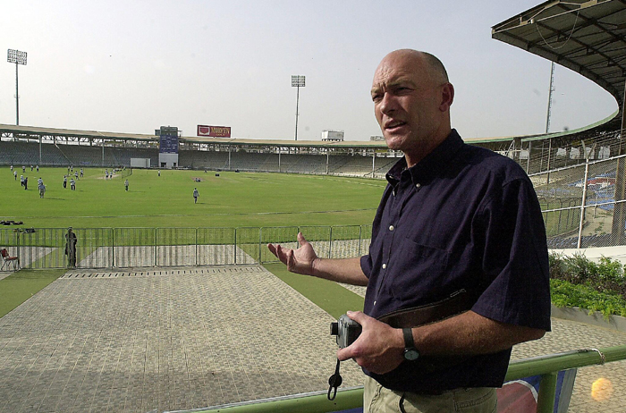 Jeff Crowe as a ICC match referee