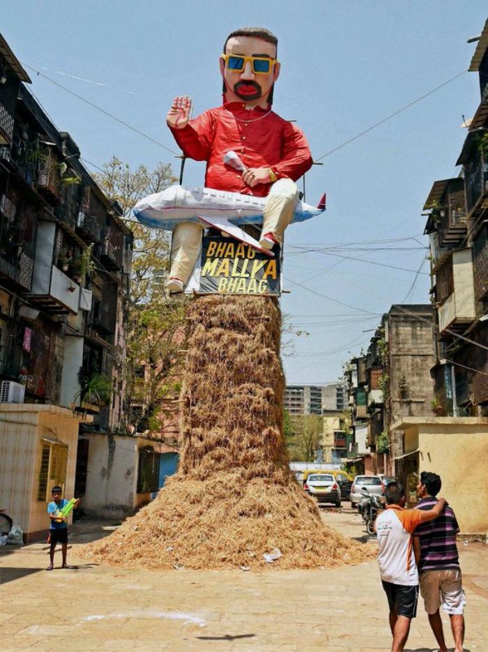 effigy of Vijay Mallya