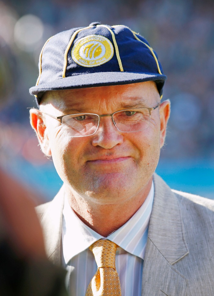 Martin Crowe with the ICC Hall of Fame cap