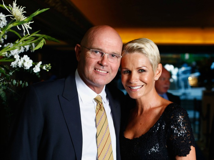 Martin Crowe with his wife