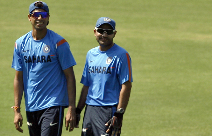Ashish Nehra with Sehwag