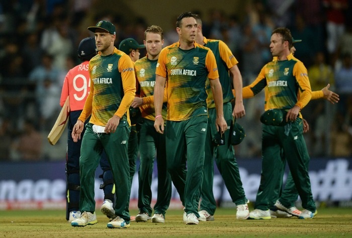 South Africa players dejected after loss