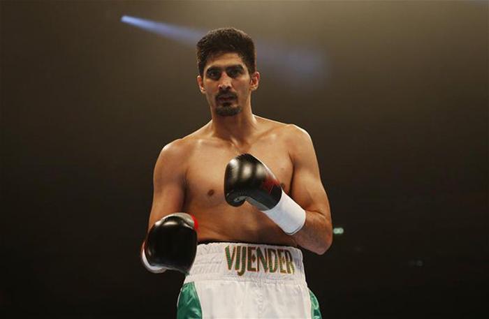 Vijender Singh in the ring