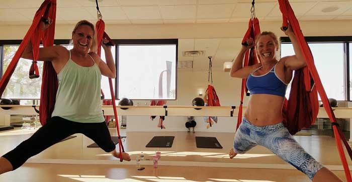 Anti gravity yoga or aerial yoga