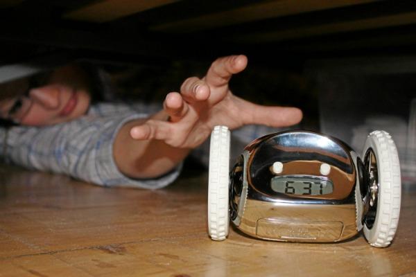 moving alarm clock