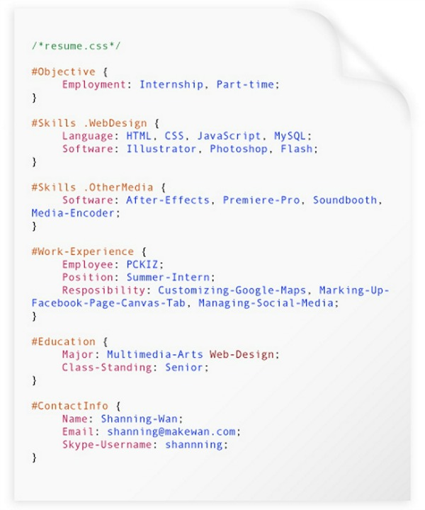 coding resume