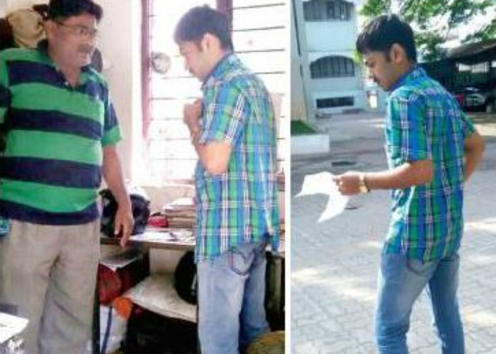 Forced To Cut Off Shirt Sleeves Because IIT-Jee Has Banned Full Sleeve Shirt