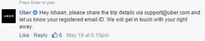 Uber response