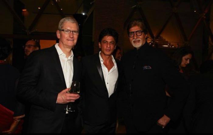 Tim Cook, SRK, Amitach Bachchan