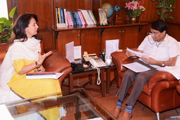 Suresh Prabhu and Ritu Beri
