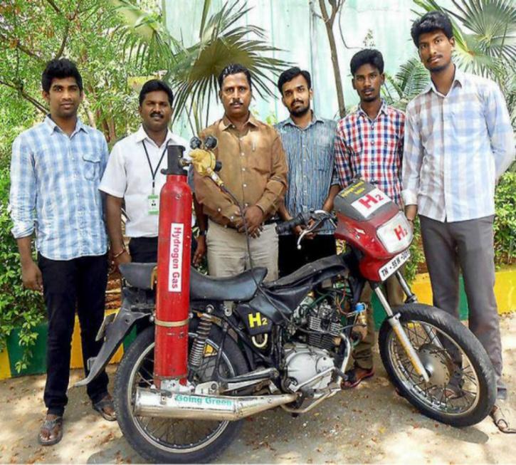 Hydrogen powered bike