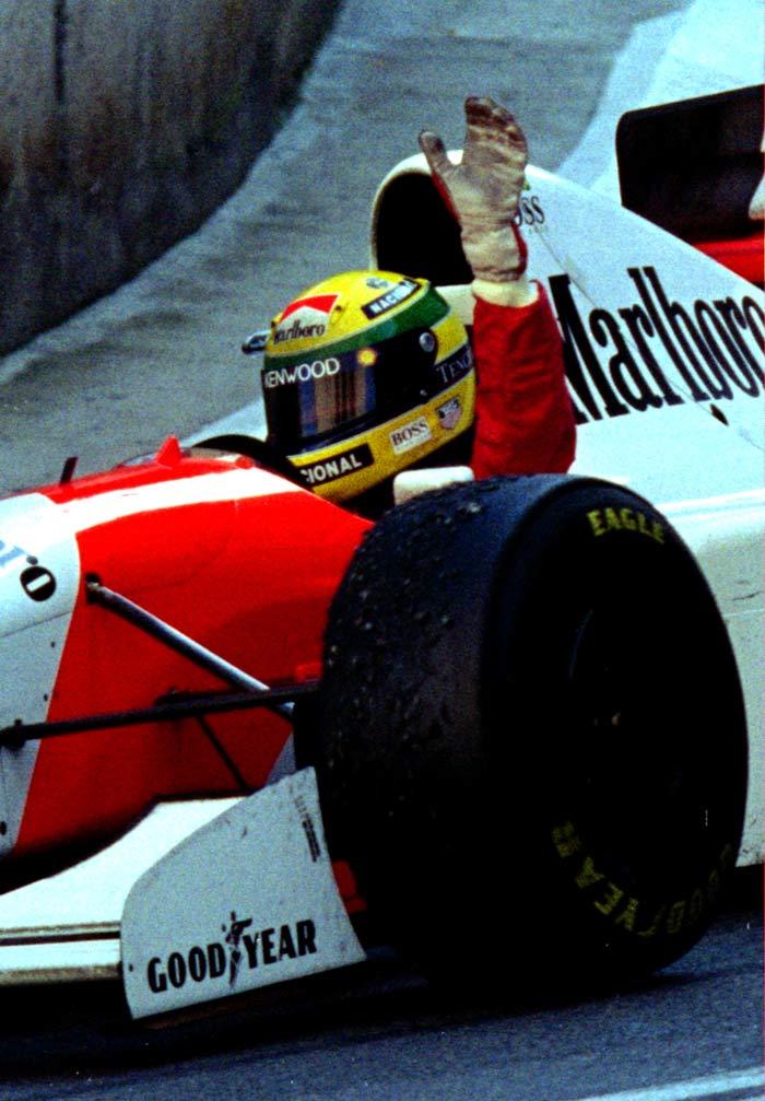 Champion Ayrton Senna
