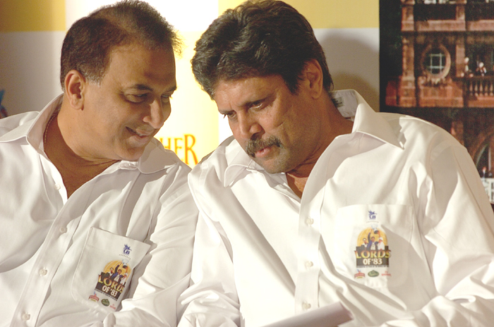 Kapil Dev and Sunil Gavaskar
