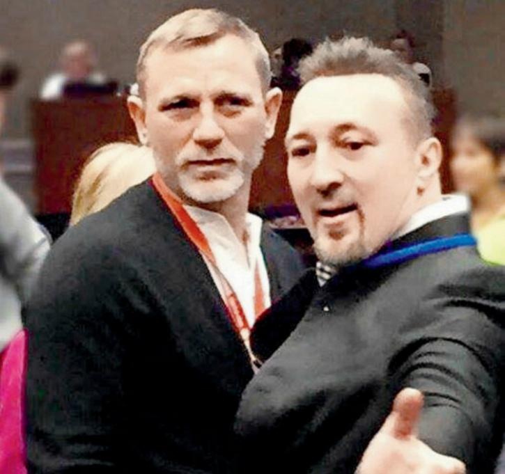 Daniel Craig with Angelo Antonio Toriello at a UN event in March